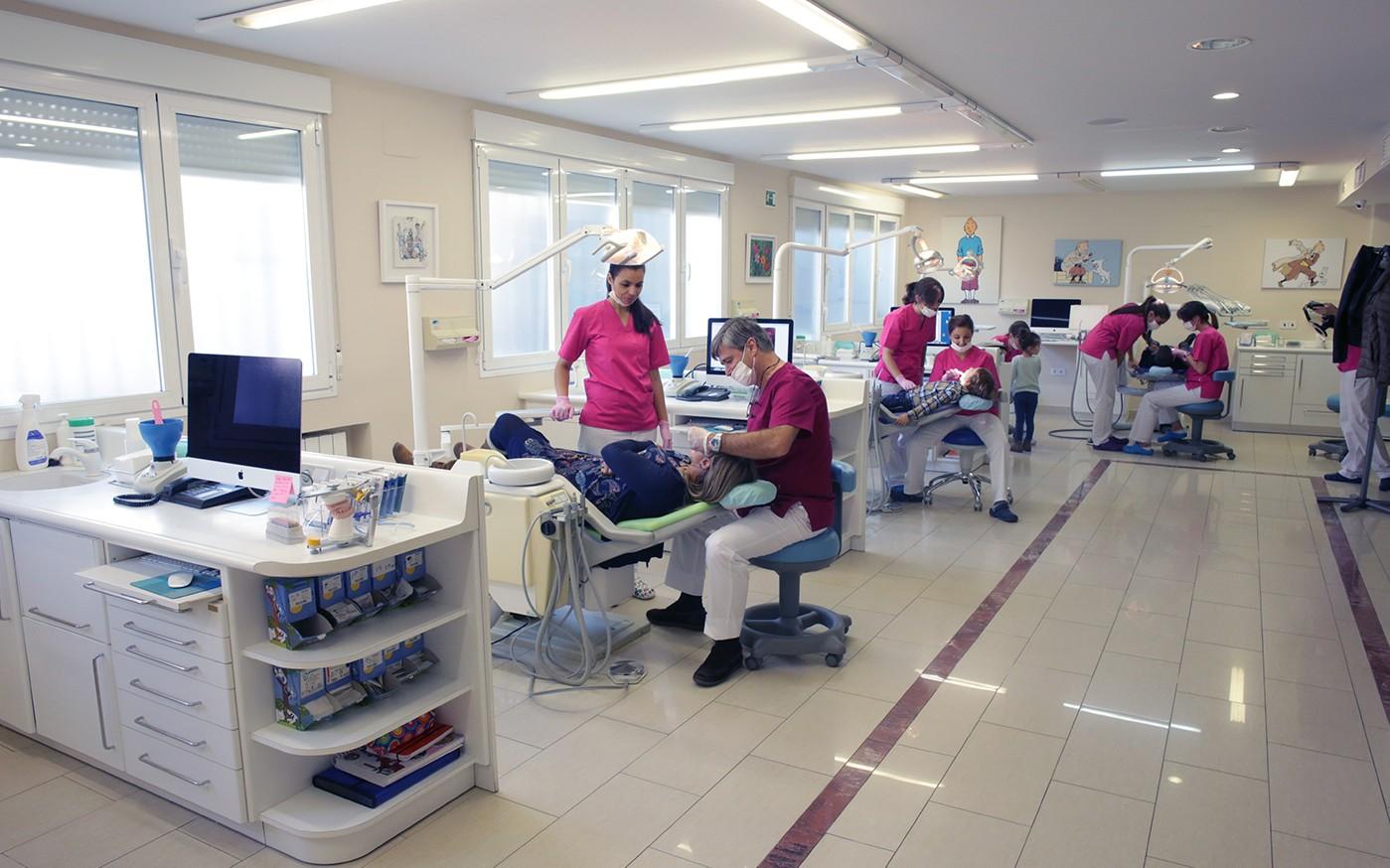 Sala de trabajo en la Clína Encinas